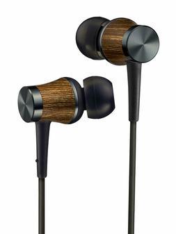 JVC N_W WOOD Hi-Res Canal Earbuds Black HA-FW7-B