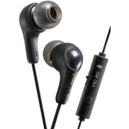 JVC HAFX7GB Gumy Gamer Earbuds with Microphone and mute swit