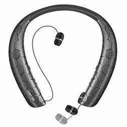 Junetek Headphones, Wireless Bluetooth 5.0 Headset Wearable