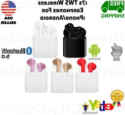 i7s TWS Wireless/Bluetooth Earbuds/Earphones/Headphones For