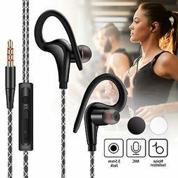 In-Ear Wired Sport Running Earphone Earbuds Over ear Hook He