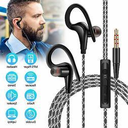 In-Ear Wired Sports Running Earphone Earbuds Over Ear Hook H