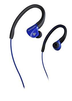 Pioneer IRONMAN Sweat-Resistant Sports Earphones, Blue Black
