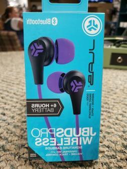 JLab JBuds Pro Wireless Earbuds Bluetooth Purple Violet 6+ H