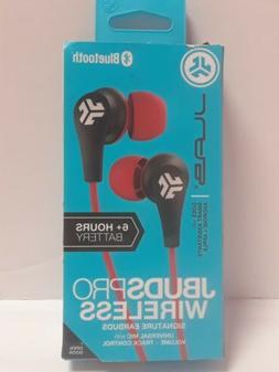 JLAB JBUDSPRO Wireless Earbuds - Black/Red Bluetooth Earbuds