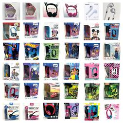 Kids Character Headphones Kid Safe Volume Limiting OR Teens