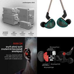 Kz As10 Earbuds Pure 5 Balanced Armature 5Ba Earphone, Music
