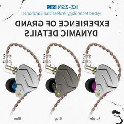 KZ ZSN Pro Metal Earphones 1BA+1DD Hybrid HIFI Bass Earbuds