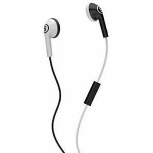 2xl offset earbuds black white with inline