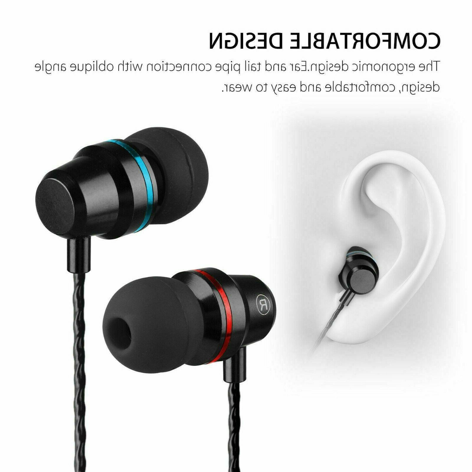 3.5mm Headset Earphone Stereo Earbuds Headphone Wired Mic