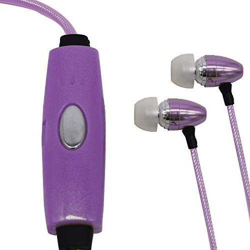 Soundlogic XT in ear headphones - light-up earbuds with Mike