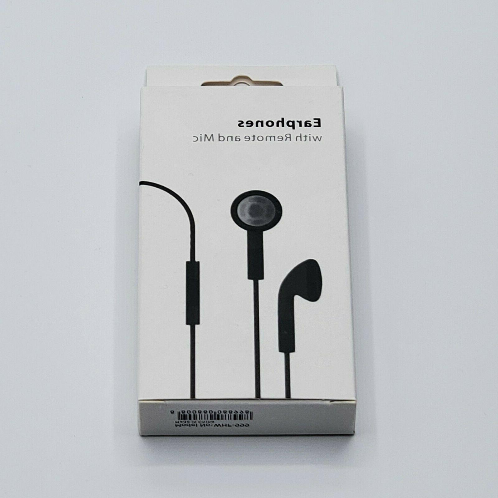 black 3 5mm in ear earbuds earphones