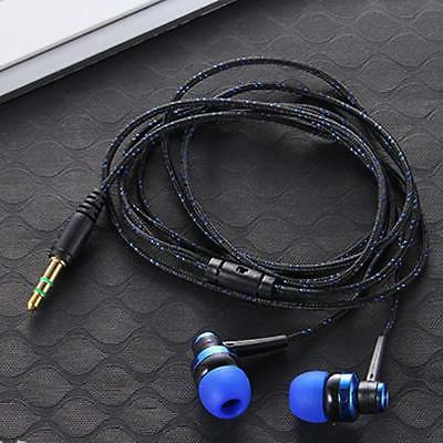 blue on black in ear earbuds stereo