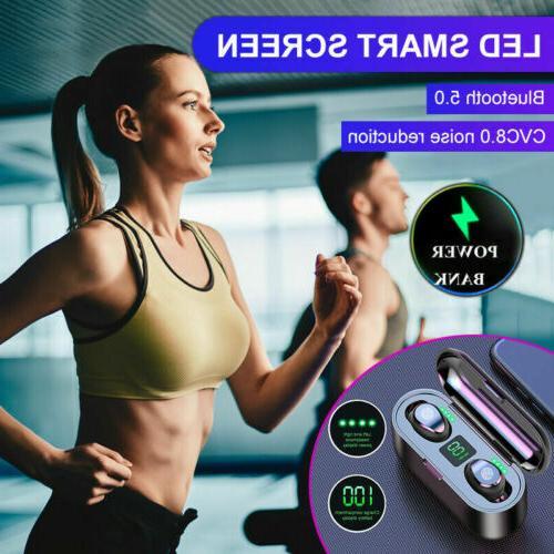 Bluetooth Earbuds Wireless Earphones TWS Stereo Deep Bass