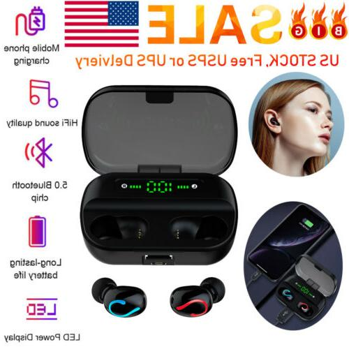 TWS Bluetooth 5.0 Headset Stereo Dual Headphone