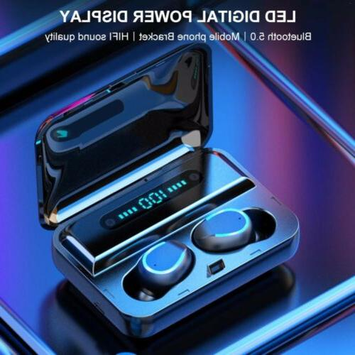 Bluetooth 5.0 Earbuds Earphones Stereo Deep Bass in-Ear