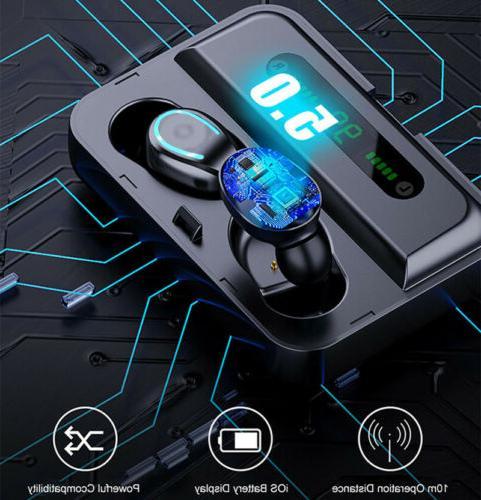 Bluetooth 5.0 Wireless Earphones TWS Deep Bass in-Ear Headphones
