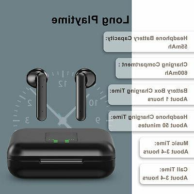 Bluetooth 5.0 Wireless Earphones Gym Touch Earbuds