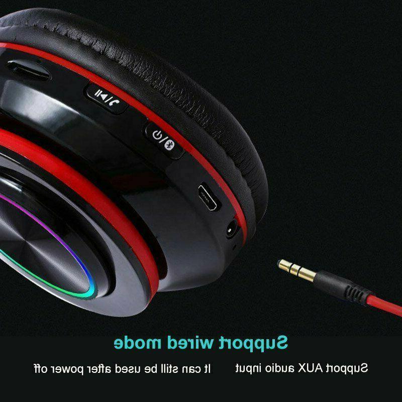 Bluetooth Headsets Earphones Over Ear Stereo Headphones
