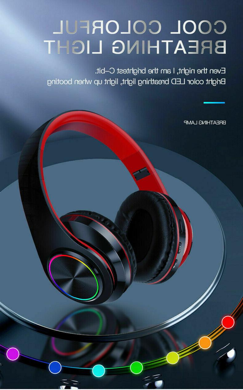 Bluetooth 5.0 Headsets Earphones Ear Stereo