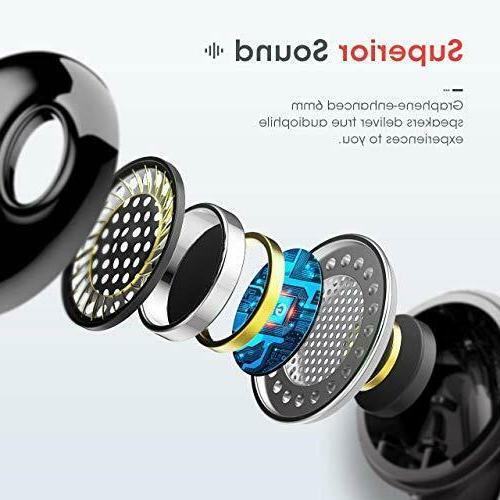 Compact Bluetooth Earbuds Wireless 5.0 Headphones Earphone