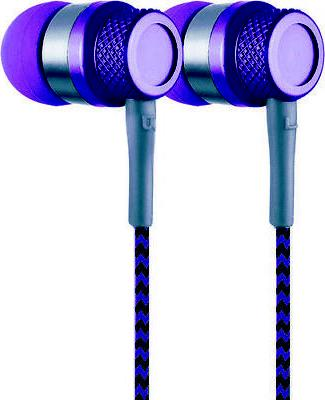 Coby CVE-200-PRP Jammerz Metal Tangle Free Earbuds W/Mic