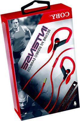 cve 406 red high intense sports earbuds