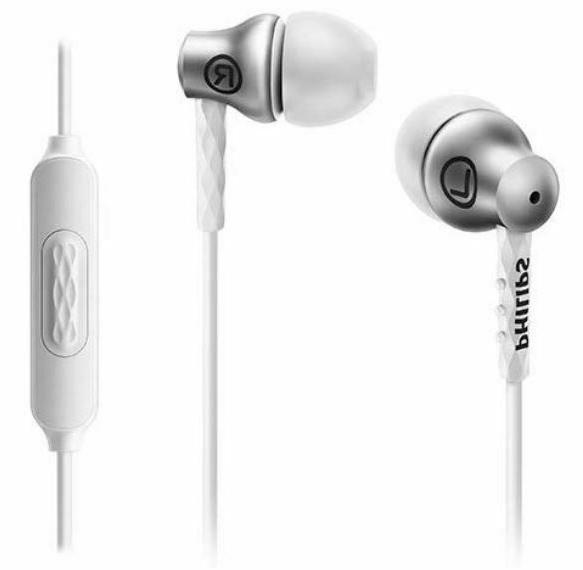 Philips Earbuds with - Silver