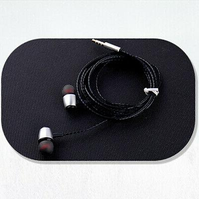 Earbuds In-Ear Sound Isolating Wired Headset Mic &