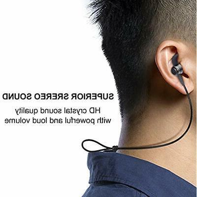 Earphones Bluetooth Wireless Headphones Earbuds Microphone Sport Jogging Workout