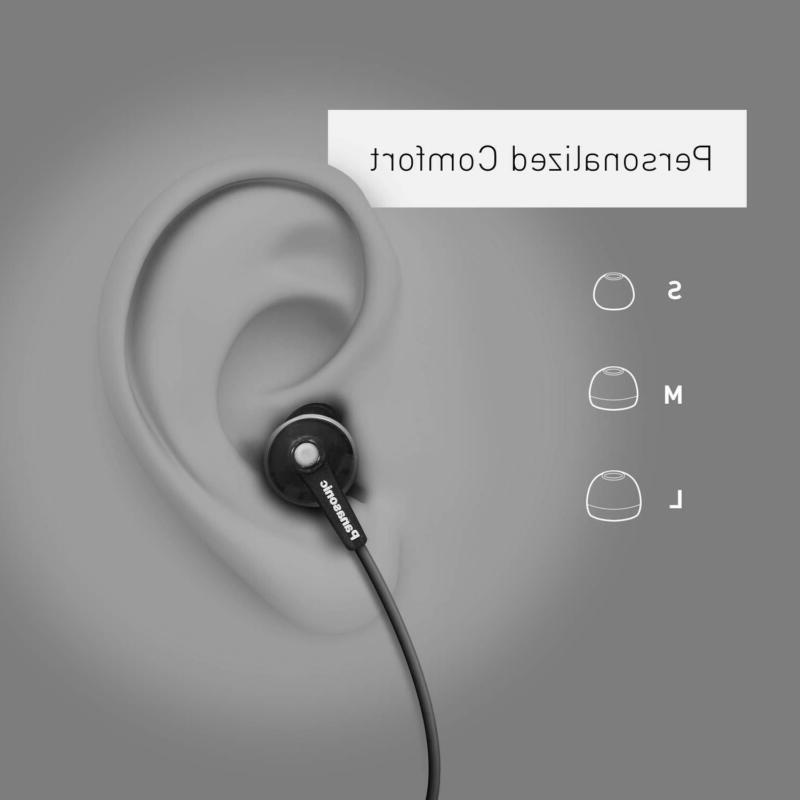 Panasonic ErgoFit Earbud Headphones RP-HJE120-K Clear
