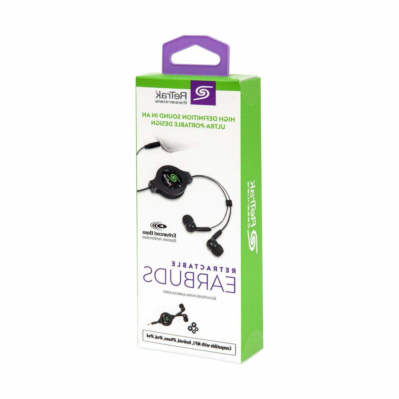 etesbud earbuds w 3 5mm retractable 3