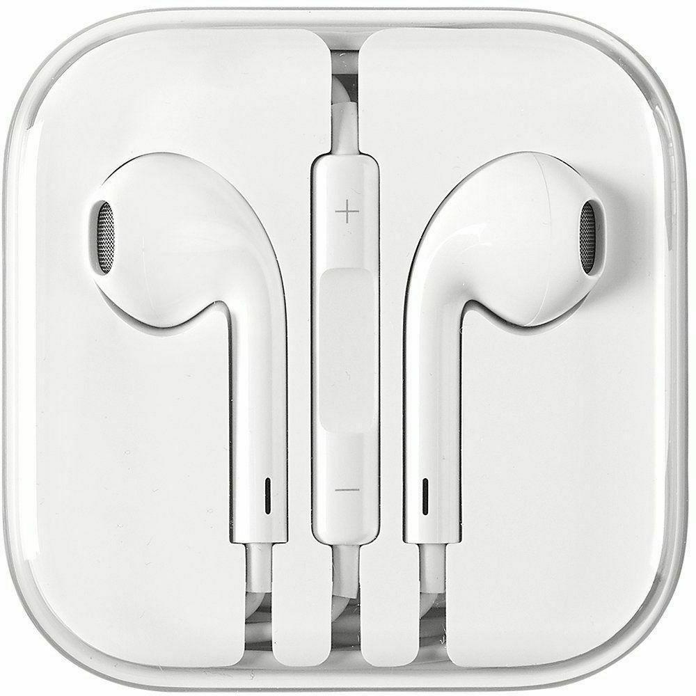 Headphones Earphones Earbuds With Remote & Apple 5 White