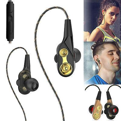 heavy bass earbuds headphones wired hifi sound