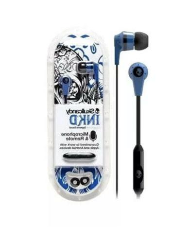 ink d ear headphones blue