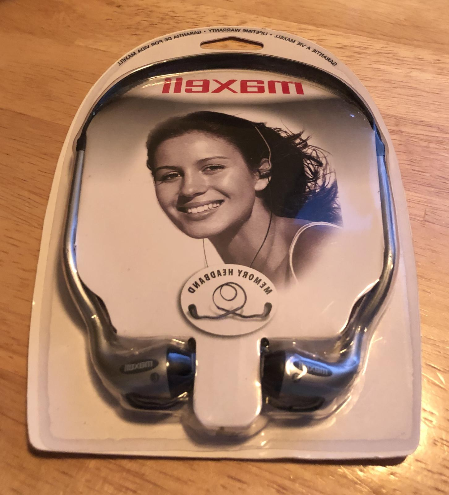 maxell hb 202 stereo head buds new