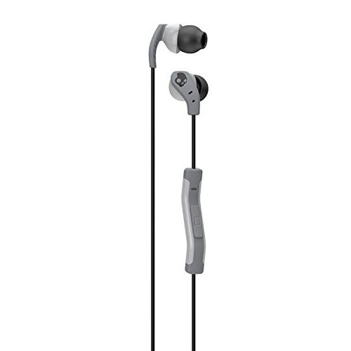 Sport with In-Line Microphone and Secure Fit for Exercise, Cable Management Workouts, Gray