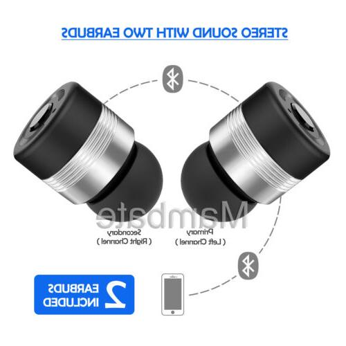 Wireless Bluetooth Twins Stereo In-Ear Earbuds for iPhone Samsung LG