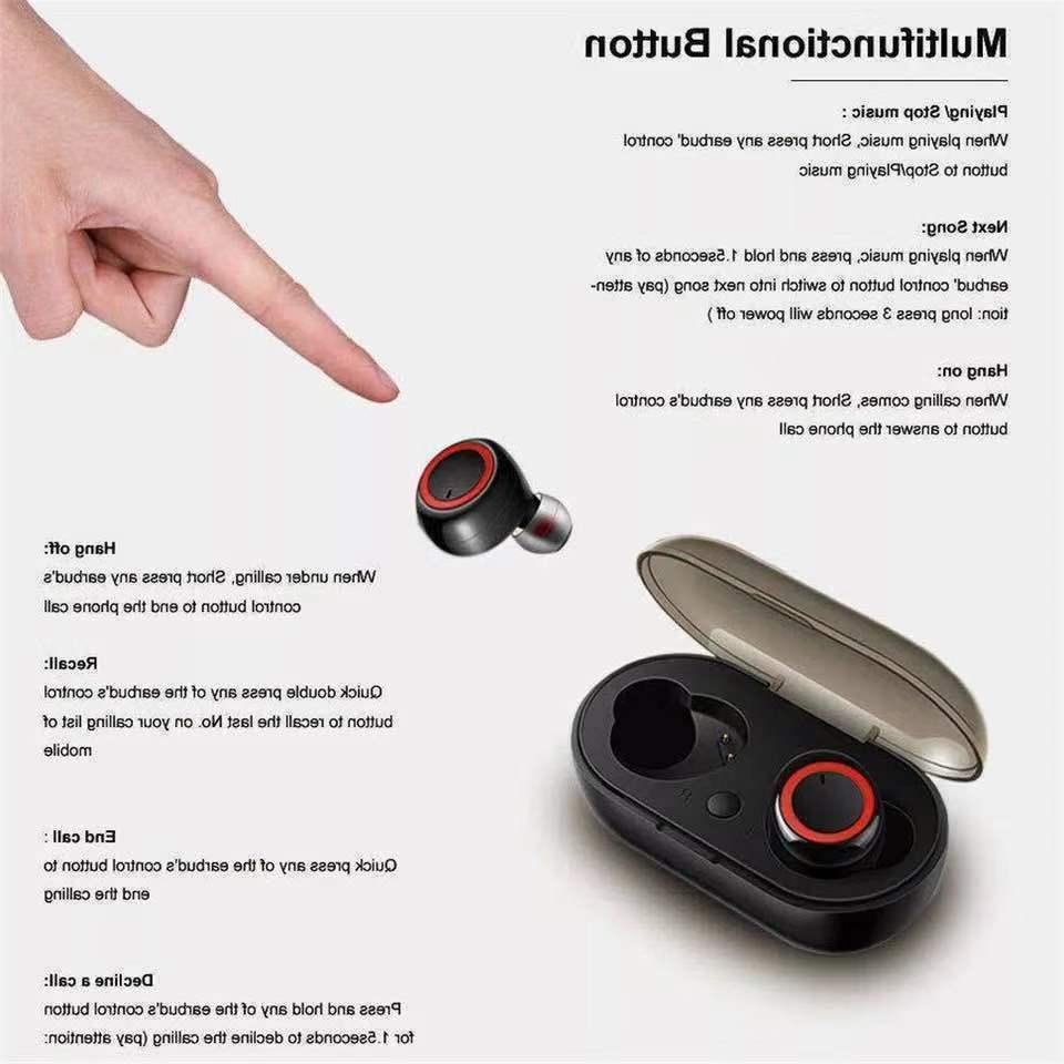 Bluetooth Wireless Earbuds Headphone TWS