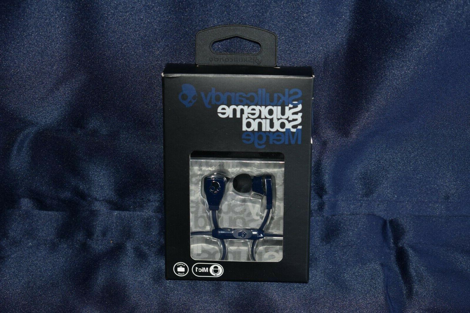 new oem merge black earbud headphones