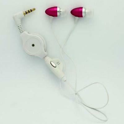PINK EARBUDS HANDSFREE EARPHONES MIC DUAL T5H for PHONE