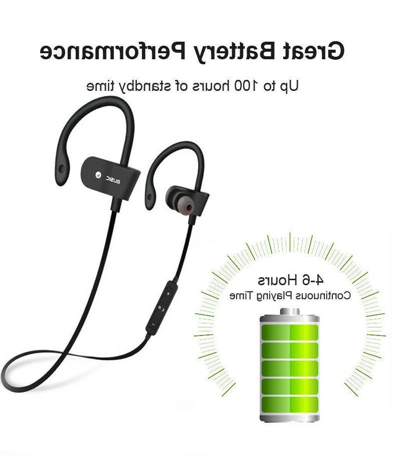 Sweatproof Bluetooth Sport Earbuds