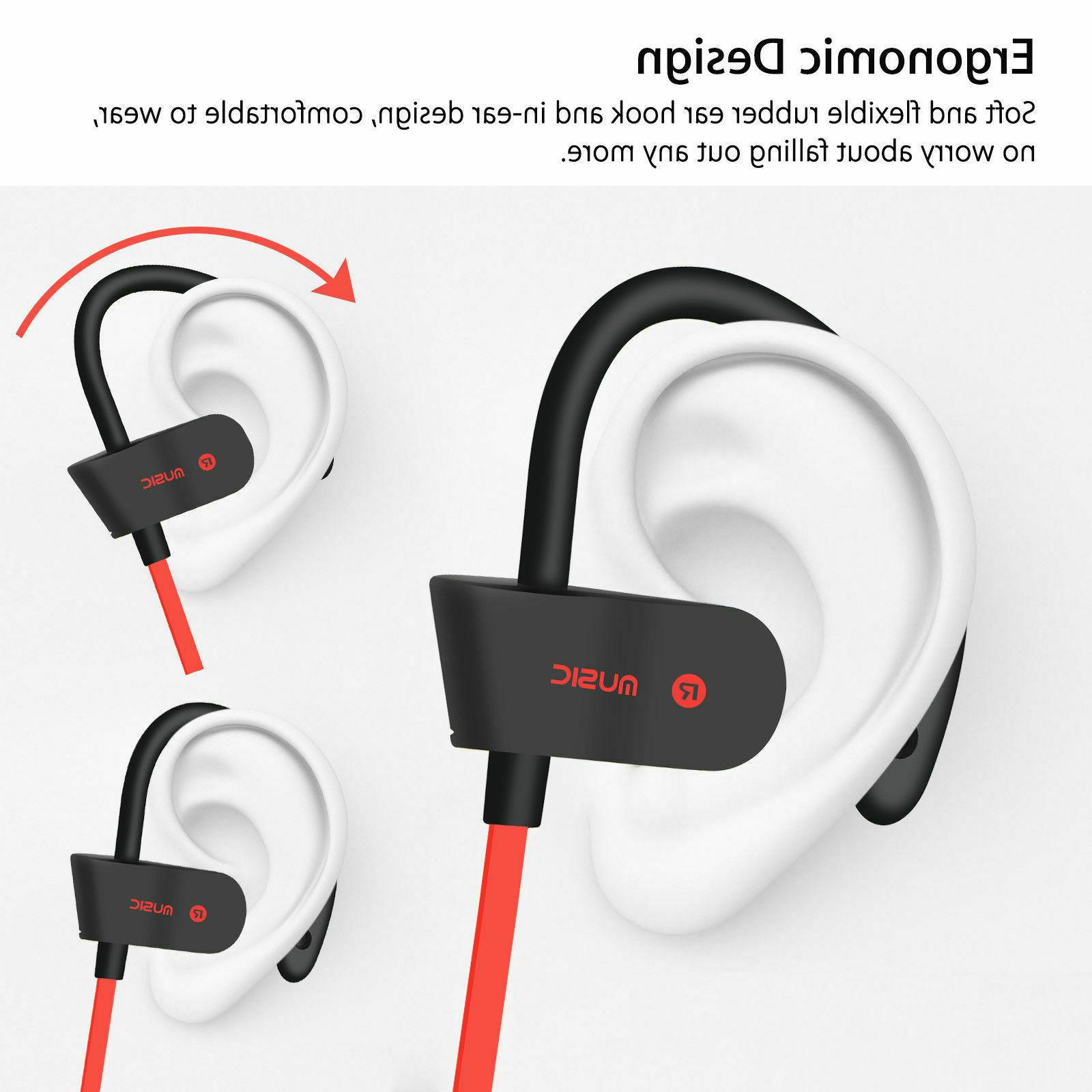Sweatproof Headset Sport Stereo Earbuds