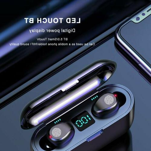 Bluetooth 5.0 Earbuds TWS Wireless Earphones Twins Headset S