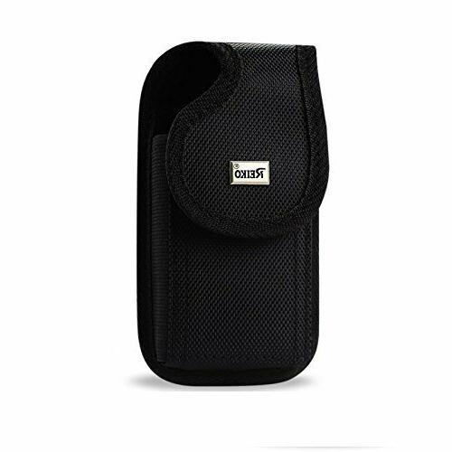 vertical rugged pouch buckle cell phone case