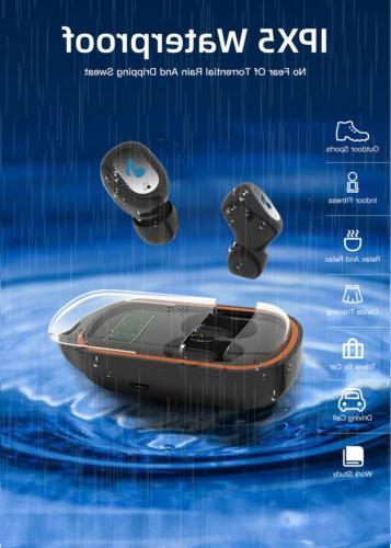 Waterproof Earbuds Headphones Wireless Noise Cancelling