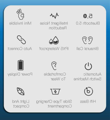 Waterproof Bluetooth Headphones Wireless Headset Noise