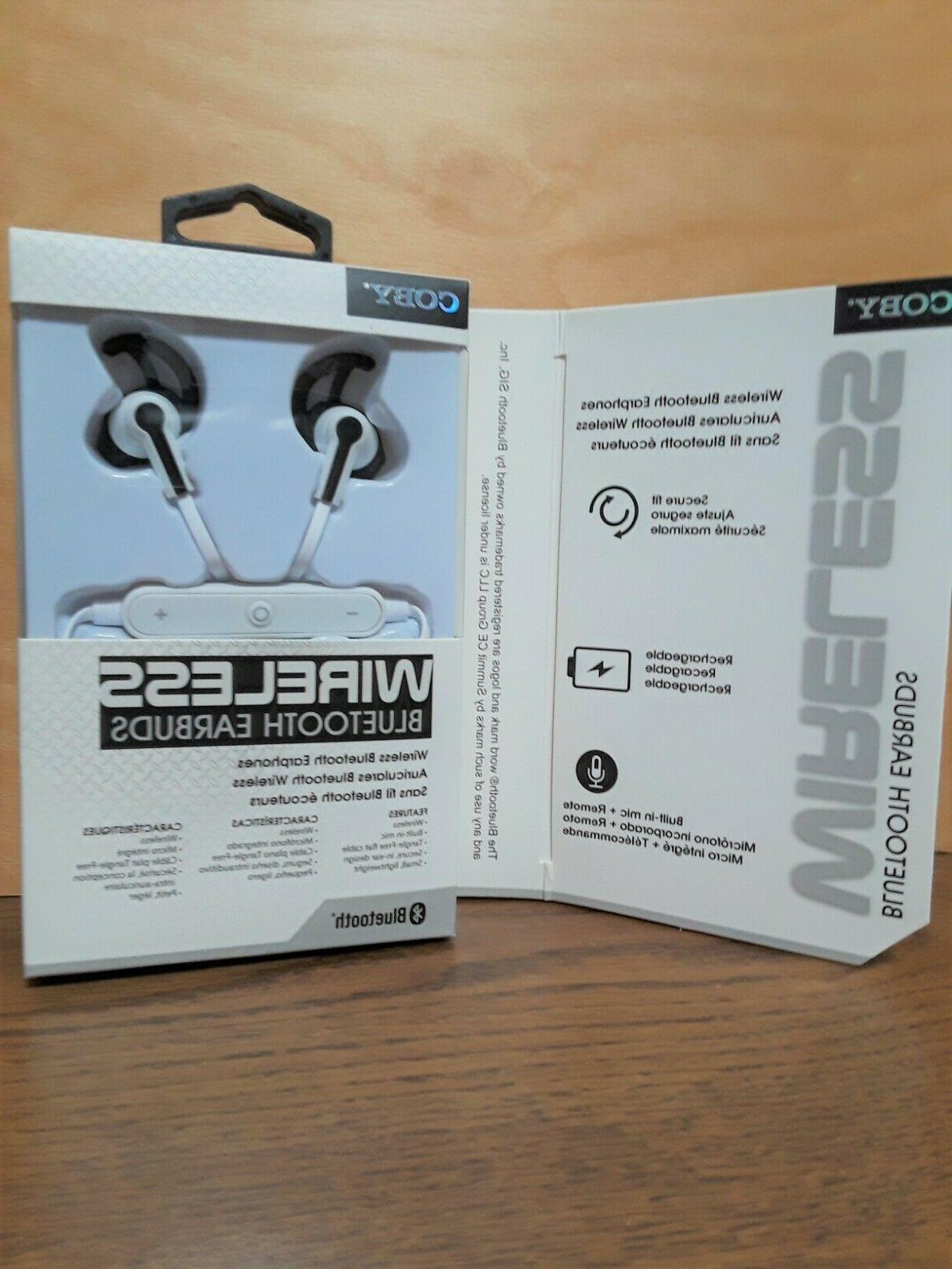 Coby WIRELESS Earbuds w/Built-In Mic - White, Red or