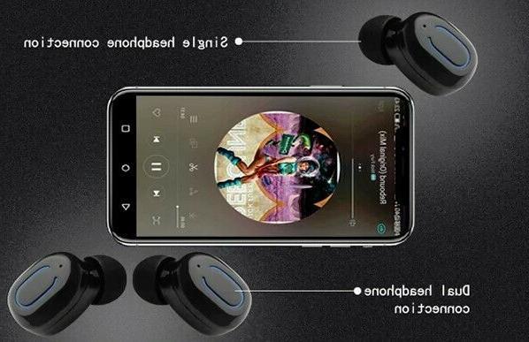 Dual Wireless Bluetooth Earbuds Universal