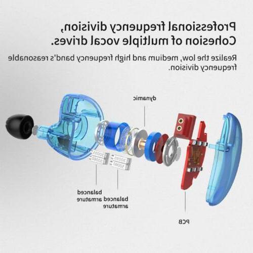 KZ ZS10 4BA+1DD Ear Earphone Dynamic HiFi Headset